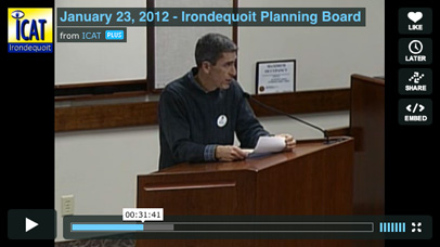 Watch video from the Planning Board Hearing.