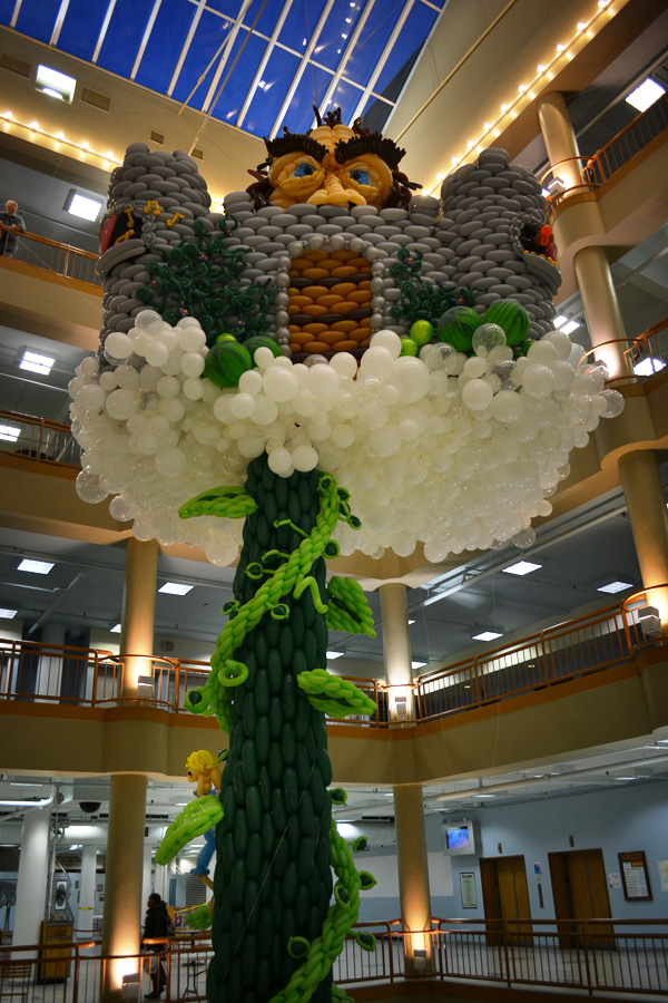 'Balloon Manor: The Very Tall Tale of Jack & His Beanstalk' at the Sibley Building, Rochester, NY. [PHOTO: RochesterSubway.com]