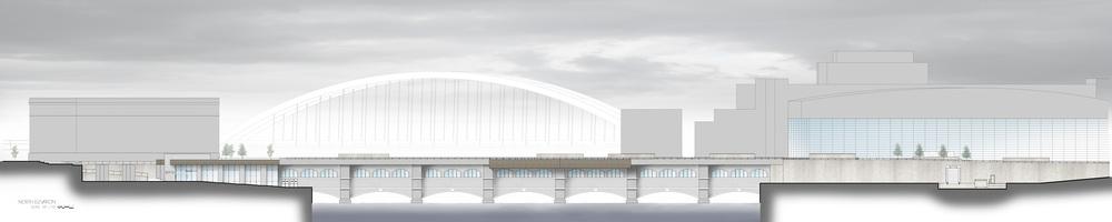 Elevation view. North side of aqueduct bridge. [IMAGE: Kenneth Martin]