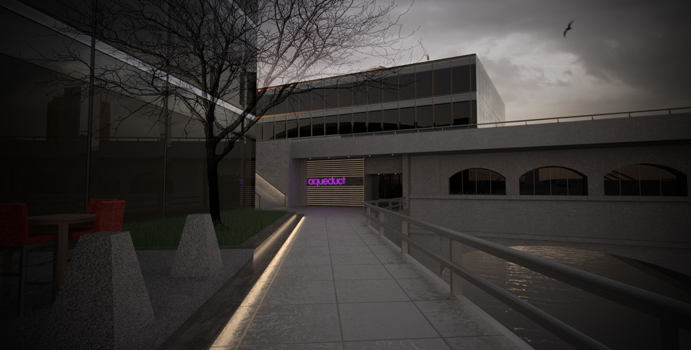 Another entrance on the west side of the aqueduct from the river promenade at Blue Cross Arena. [IMAGE: Kenneth Martin]