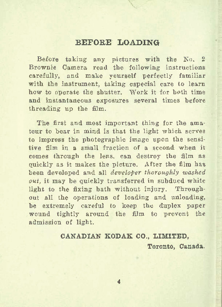 Picture taking with the Brownie camera no. 2. Published 1918 by Canadian Kodak Co. [SOURCE: OpenLibrary.org]