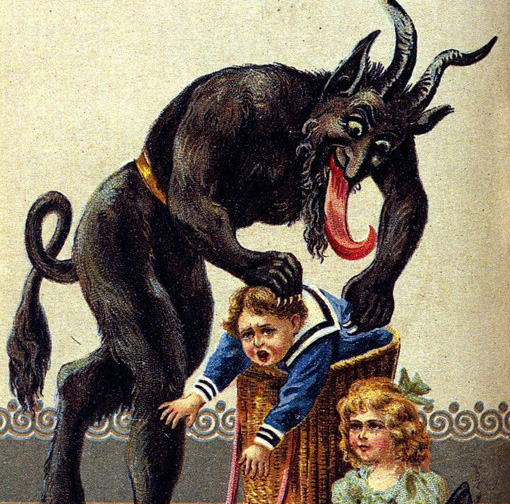 A greeting card featuring Krampus. [IMAGE: Wikipedia]
