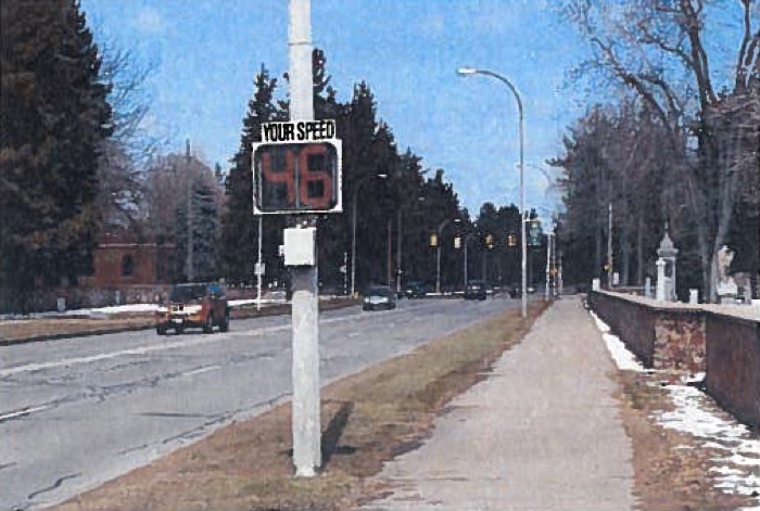 Drivers regularly travel at speeds in excess of the posted 35 mph speed limit along Lake Avenue.