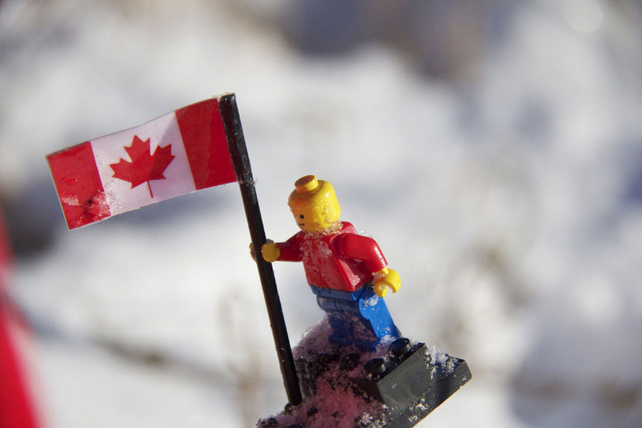 'Buzz' the Lego-naut after his 97 minute space flight. [PHOTO: via Toronto Star]