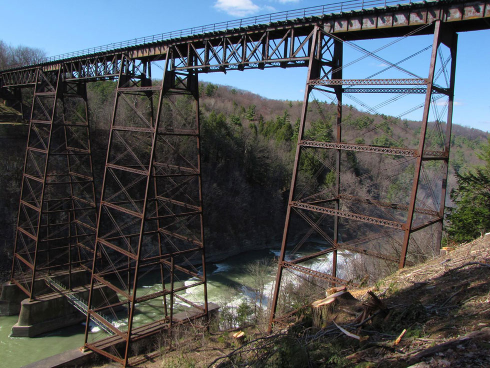 Portageville rail bridge at Letchworth State Park, NY. [IMAGE: Richard H. Jordan III]