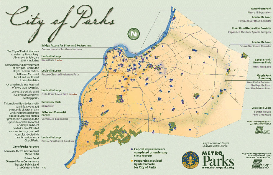 City of Parks, Louisville, KY.