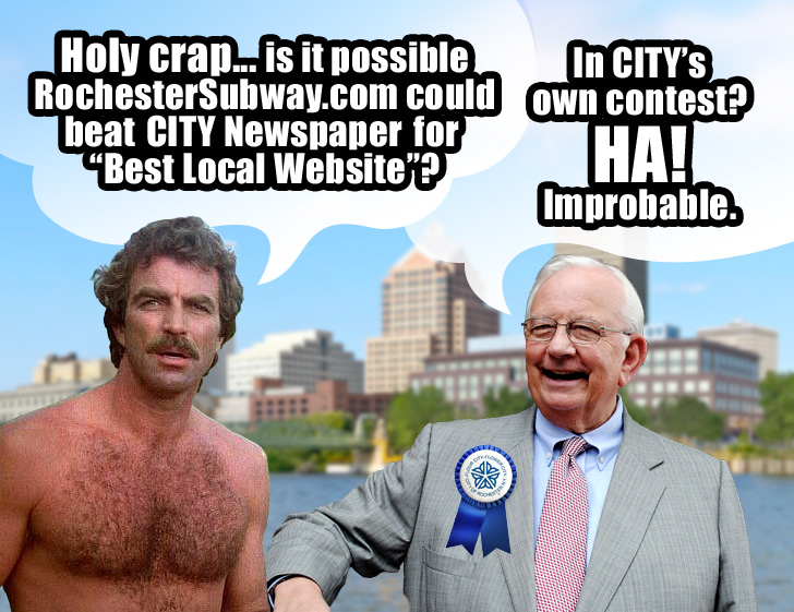 RochesterSubway.com and CITY Newspaper will go head to head in CITY's 'Best Of 2013' contest. (see line #74 on the ballot)