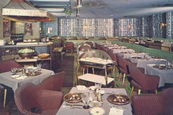 Manger Hotel's Hearth and Embers restaurant shortly before the building was demolished. [PHOTO: Rochester Public Library]