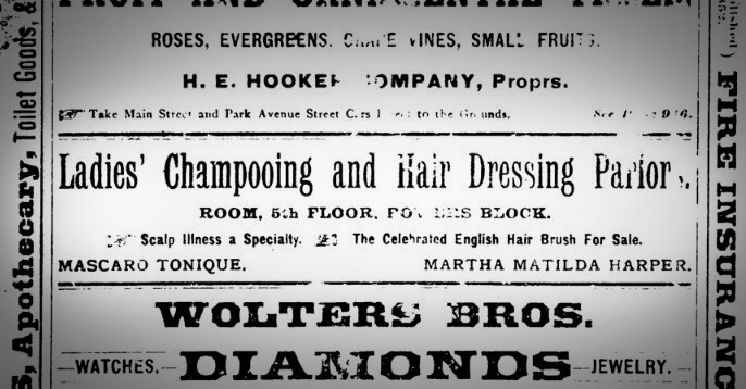 Ad from the back page of the 1889 Rochester City directory.
