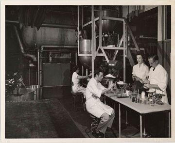 An old photo showing Harper's laboratory that is now filled with tires. [PHOTO: Rochester Museum & Science Center]