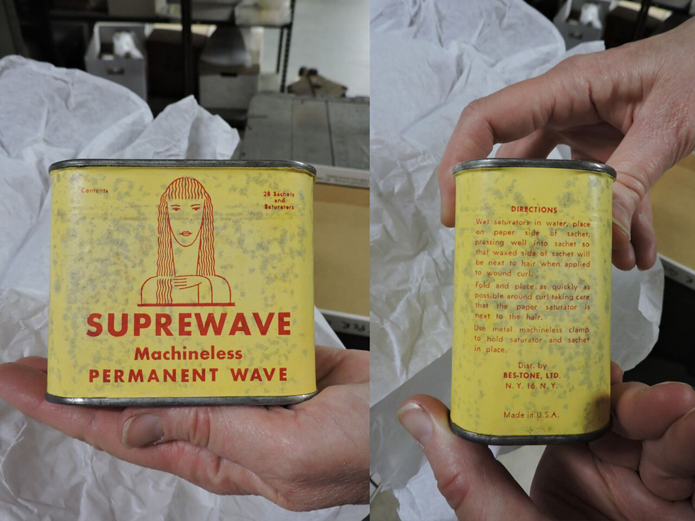 Suprewave, machineless permanent wave. In the collection at the Rochester Museum and Science Center. [PHOTO: Joanne Brokaw]