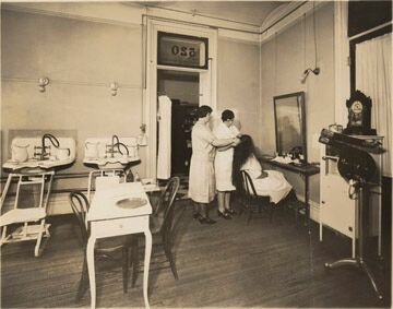 In 1888, using her lifetime savings of $360, Harper rented space in the Powers Building to open her first beauty shop. [PHOTO: Rochester Museum & Science Center]
