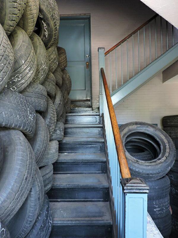 Stairway to second floor. [PHOTO: Joanne Brokaw]
