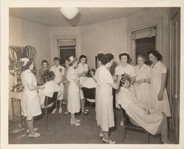 From her beauty headquarters in Rochester and with the goal of helping women achieve business success, Harper started training poor women in her methods of beauty treatment. [PHOTO: Rochester Museum & Science Center]