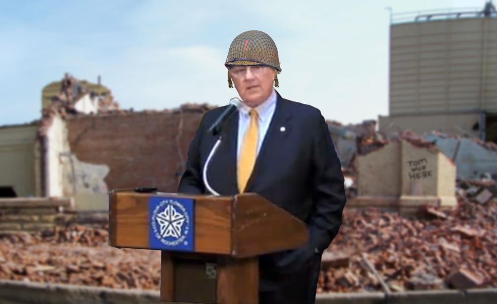 Mayor Thomas Richards has launched a full scale assault on preservation in Rochester. Tommy says,