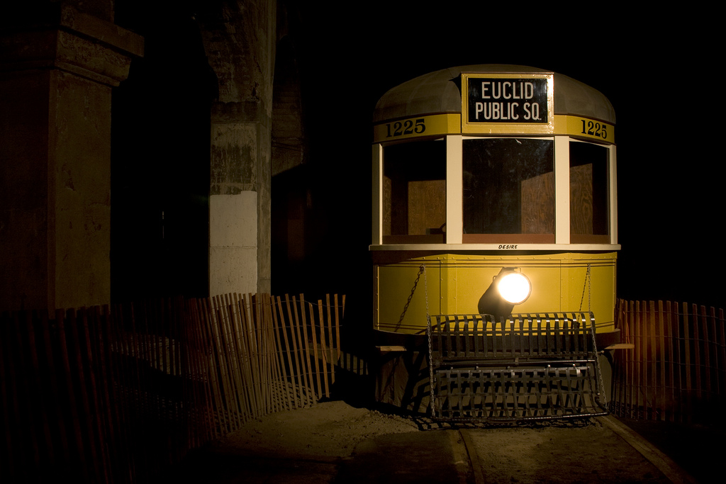 This is one of the trains that used to be in service in Cleveland's formerly active subway system. (photo: Chris Luckhardt)