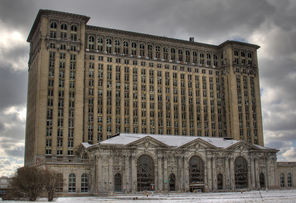 An HDR composition of the Detroit's abandoned Michigan Central Station. (photo: Chris Luckhardt)