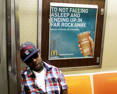 McDonald's pulled this ad because it may have offended residents of Far Rockaway. [PHOTO: NY Daily News]