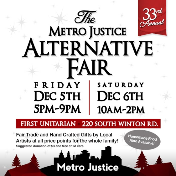The Metro Justice Alternative Fair is your holiday shopping alternative to the big box stores.