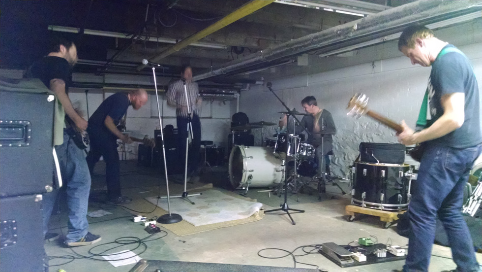 Rochester band, Muler. At their practice space. March, 2014. [PHOTO: Provided]