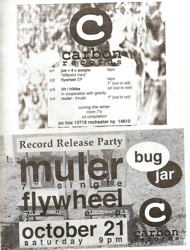 Muler / Carbon Records Ad in SUCK fanzine. [PHOTO: Provided]