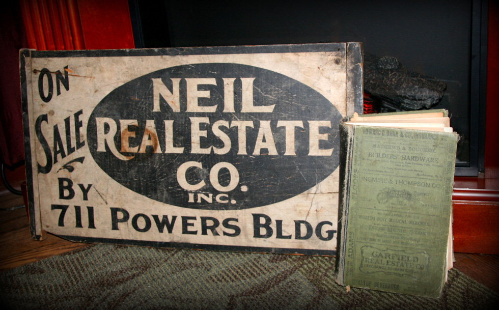 Brenda Washington found this old real estate sign hiding in the attic of her 1800s Highland Neighborhood home.