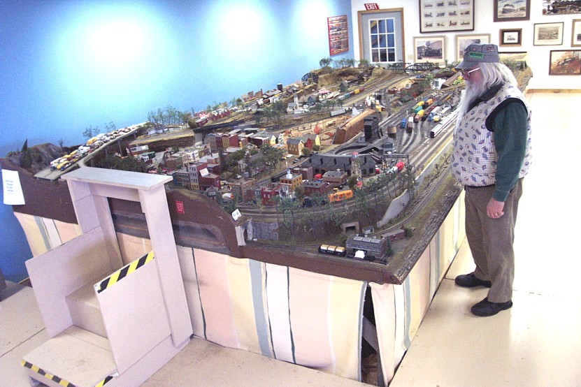 HO Gauge Model Trains at the New York Museum of Transportation. The museum as several model train set ups including a working model of the Rochester Subway line.