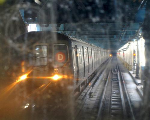 NYC Subway D Train crossing the Manhattan Bridge, New York City. Photo from jag9889's photostream on Flickr.