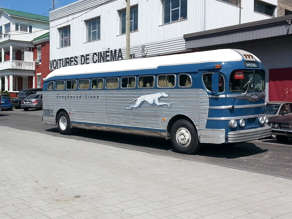 This 1948 Greyhound bus from the NY Museum of Transportation recently appeared in the movie 'Race' and is now open to museum visitors. [IMAGE: Provided]