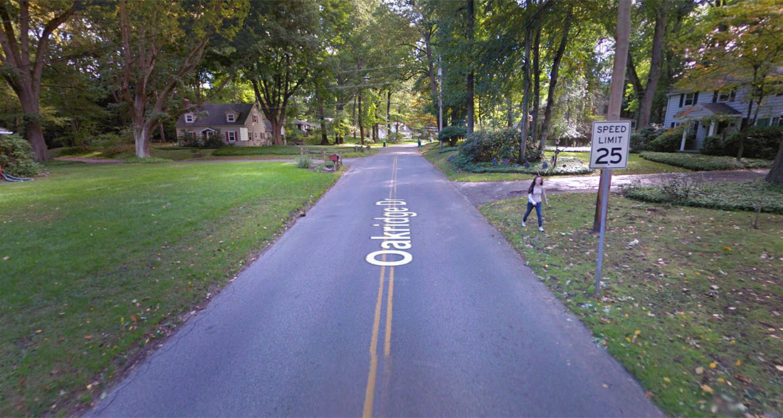 Some neighbors who live along this road in Irondequoit would like sidewalks. Others would not. [IMAGE: Google Maps]