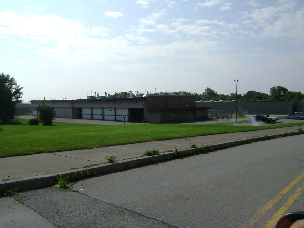 Somehow the lawn and growth around the old Monroe County recycling center gets trimmed and maintained. [PHOTO: Joel Helfrich]