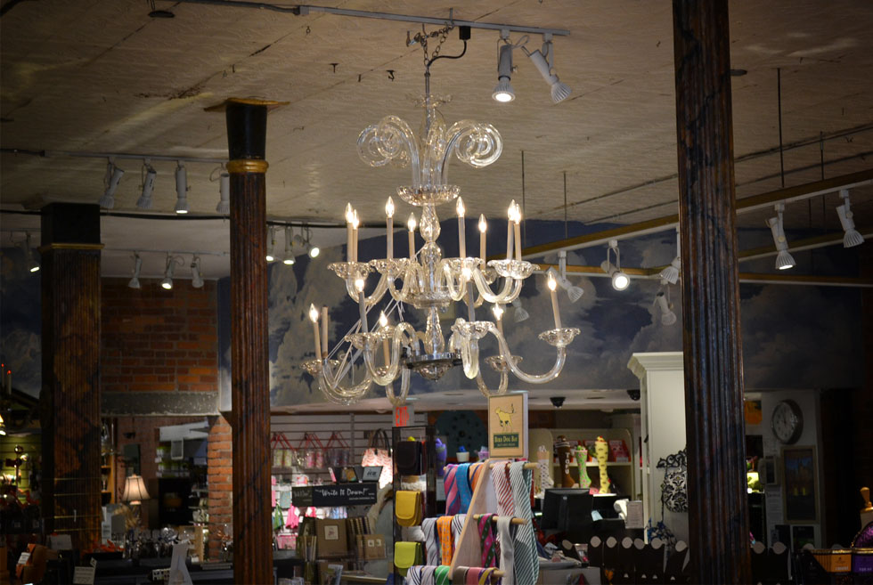 This chandelier at Parkleigh once hung inside B. Forman Co. in downtown Rochester, NY. [PHOTO: RochesterSubway.com]