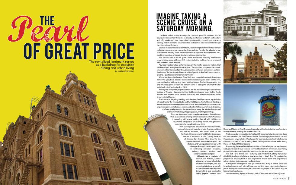 The Pearl Brewery, San Antonio, TX. [Source: NSIDE San Antonio Nov/Dec 2009]