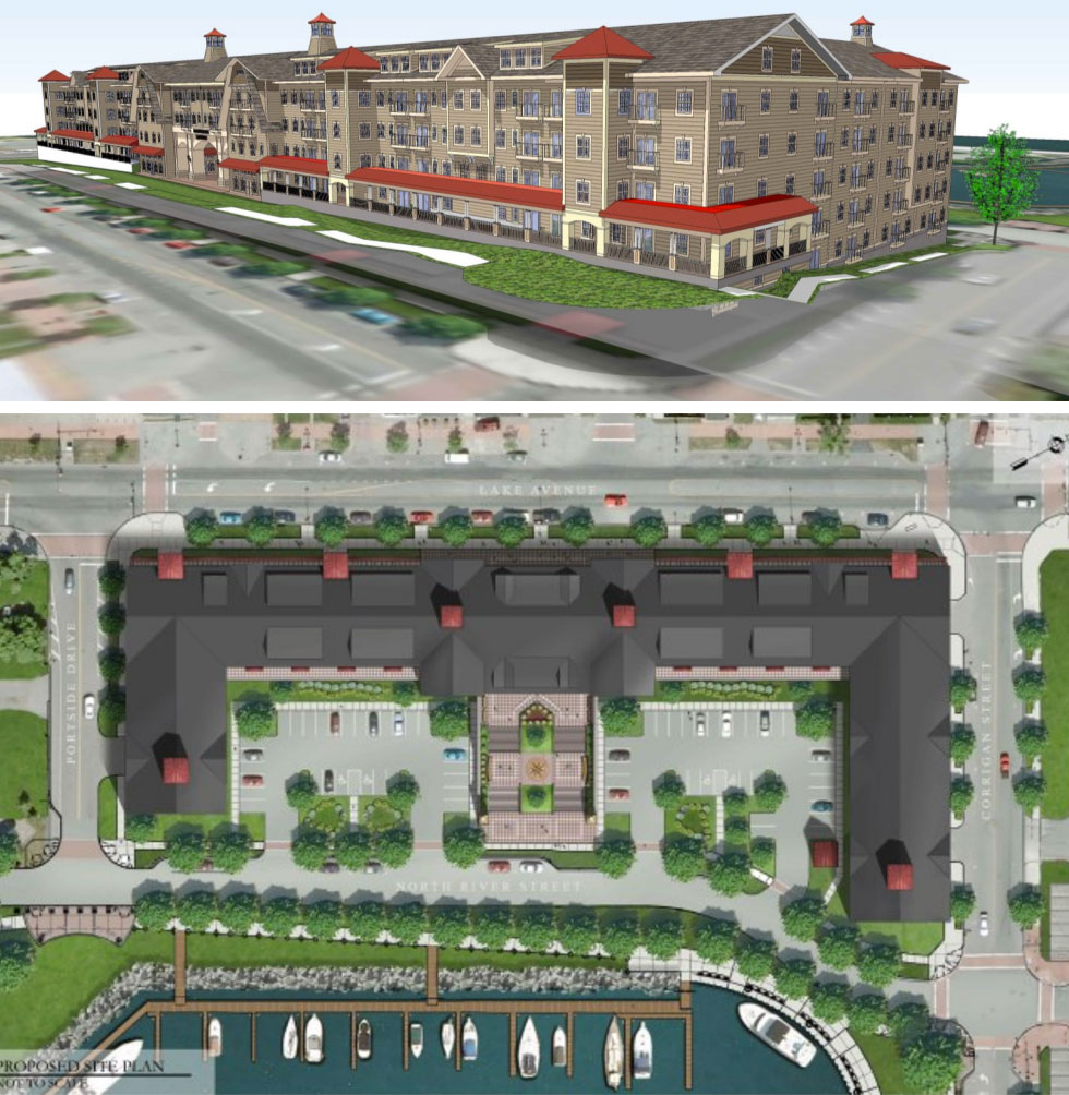 Lighthouse Landing, proposed development at Port of Rochester.