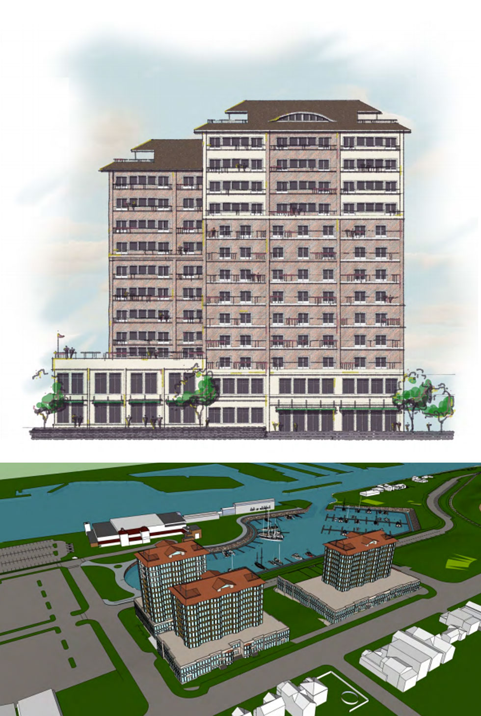 Rochester Waterfront, proposed development at Port of Rochester.