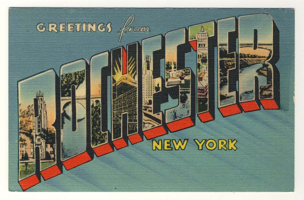 Greetings from Rochester! Now you can flip thru my entire collection of vintage Rochester postcard images on Flickr. New views will be added regularly.