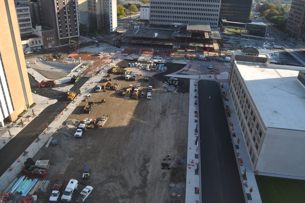Midtown Plaza construction site. [PHOTO: Earthcam.com]