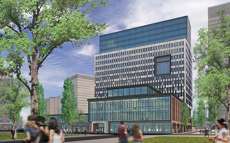 Midtown Tower rendering. [IMAGE: Buckingham Properties / Morgan Management]