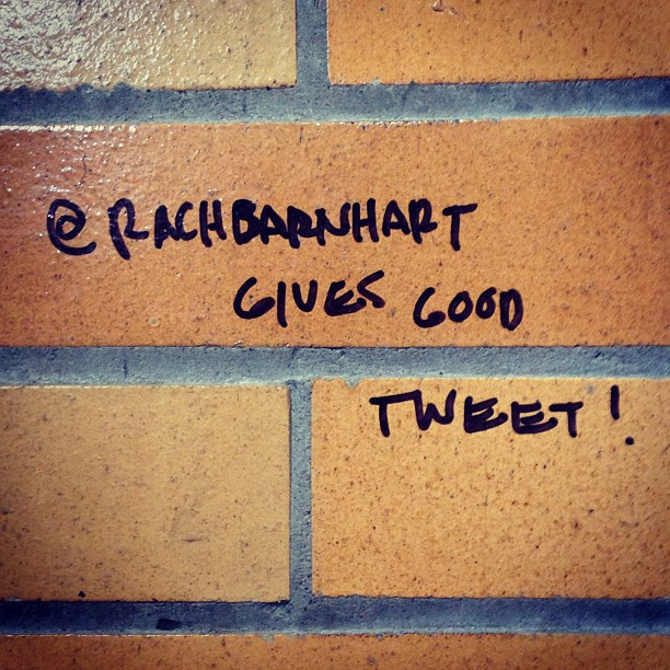 Normally I don't buy anything I read on these walls. But it's true. @RachBarnhart does give good tweet. [PHOTO: RocPX.com]