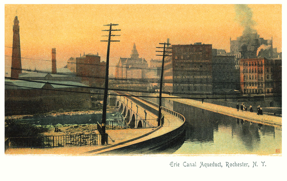 Erie Canal Aqueduct c.1900 [IMAGE: Part of 'Revisiting Rochester' exhibit]
