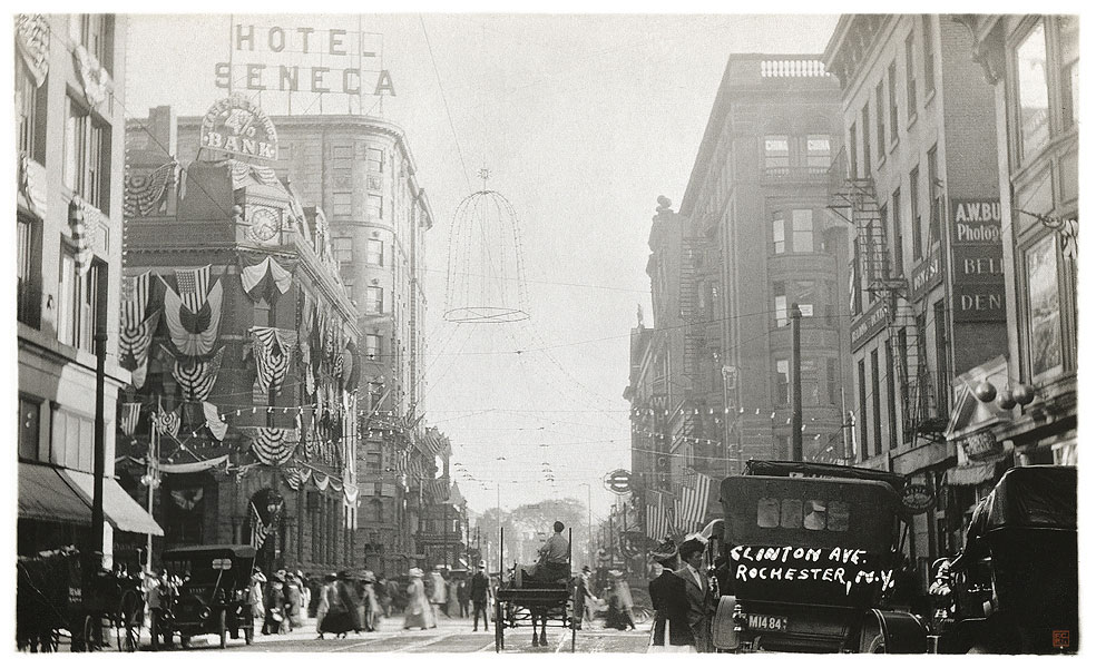 Clinton Avenue, c.1900 [IMAGE: Part of 'Revisiting Rochester' exhibit]