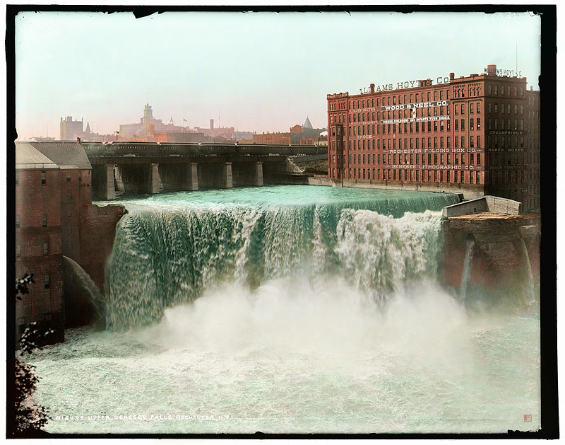 High Falls, c.1900 [IMAGE: Part of 'Revisiting Rochester' exhibit]