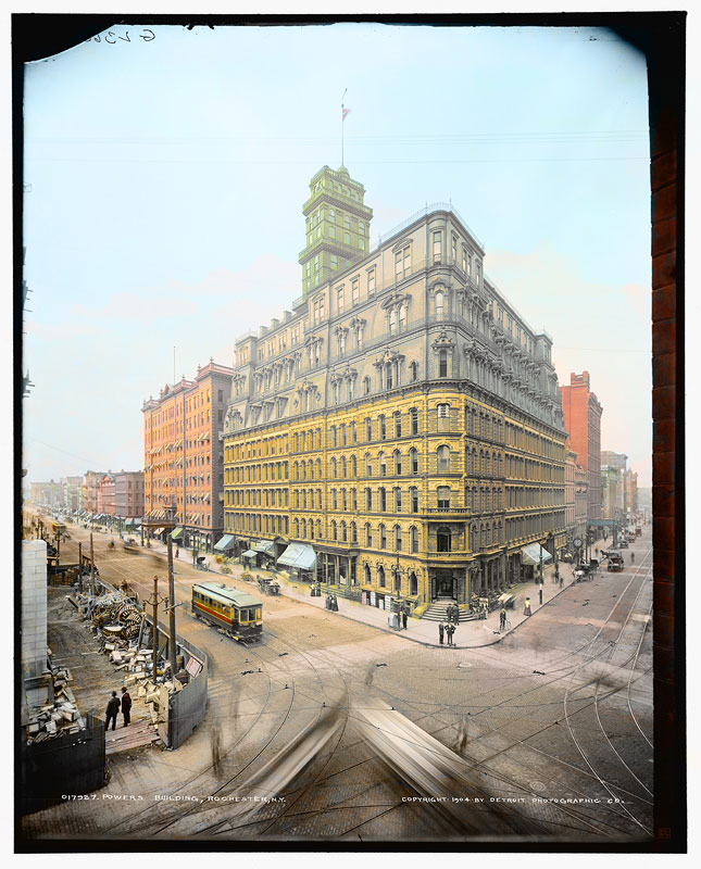 Powers Building at Main and State Streets, 1904 [IMAGE: Part of 'Revisiting Rochester' exhibit]