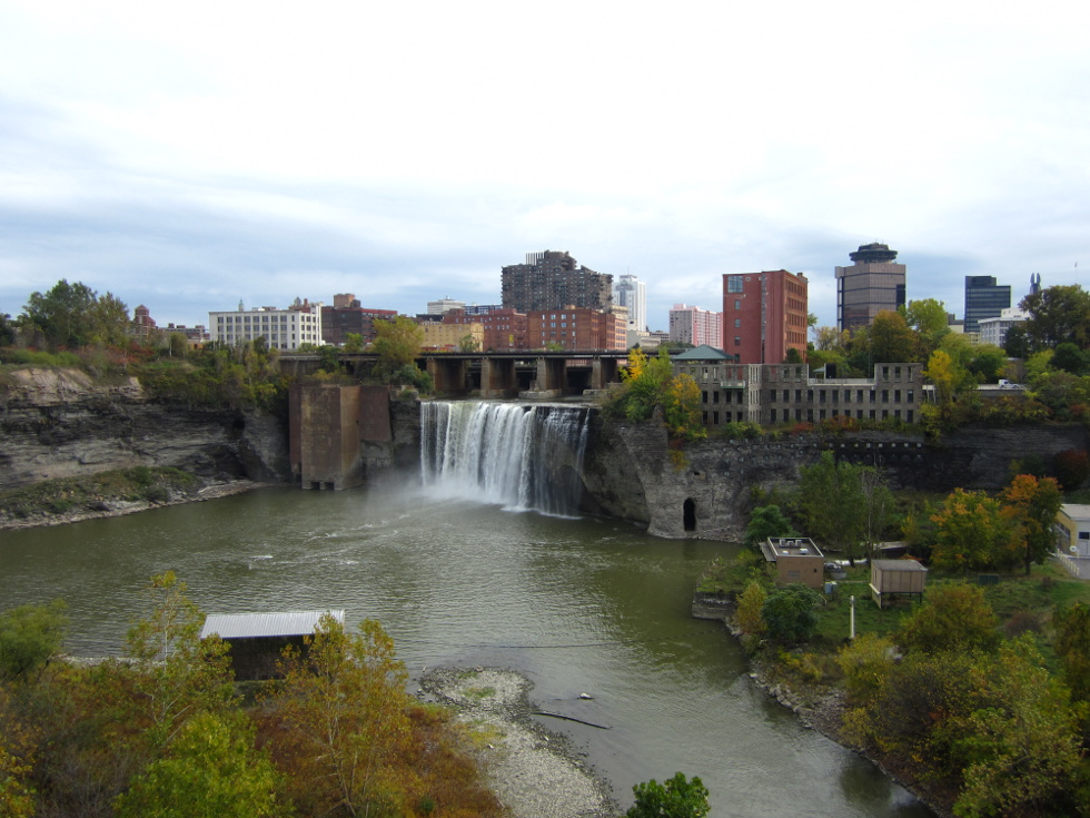 Staring off downtown, as per usual, we pass High Falls. [PHOTO: Ryan Green]