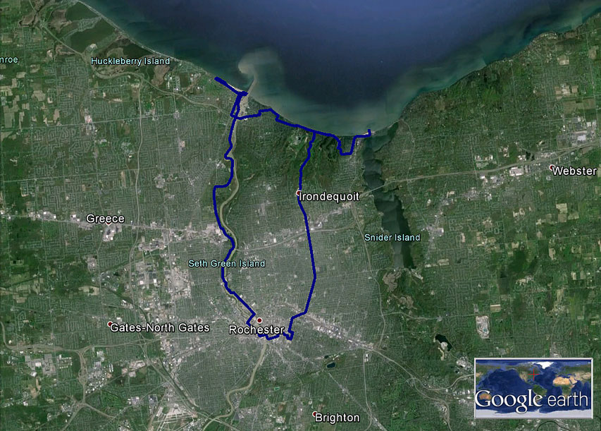 Ryan Green takes us on a bike ride from downtown Rochester to the shores of Lake Ontario. [PHOTO: Ryan Green]