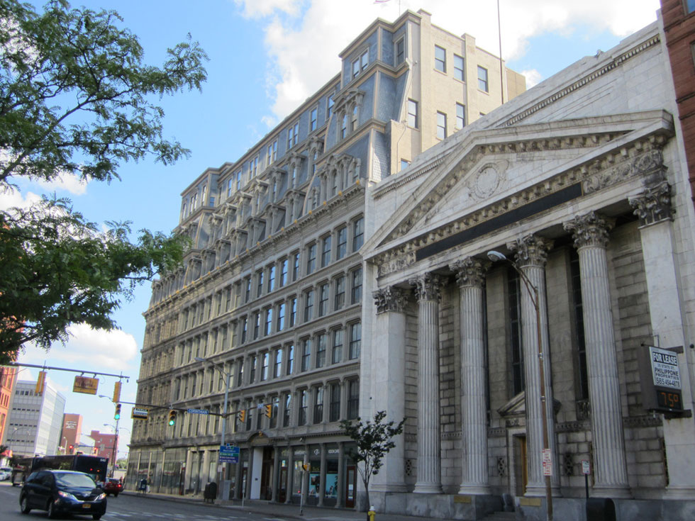 Downtown Rochester at State Street. The Powers Building. [PHOTO: Ryan Green]