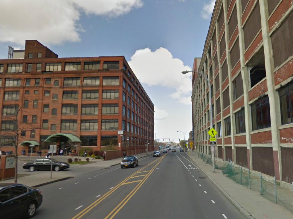 Saint Paul Street bike lanes. [PHOTO: Ryan Green]