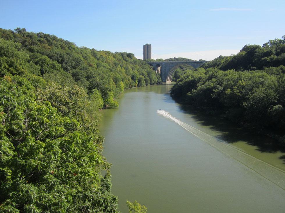 Genesee River Gorge with Veterans Memorial Bridge in background. [PHOTO: Ryan Green]