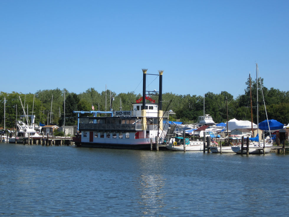 Here's the Harbor Town Belle, one of the many boats available historical or dining cruises in the Rochester Area. [PHOTO: Ryan Green]