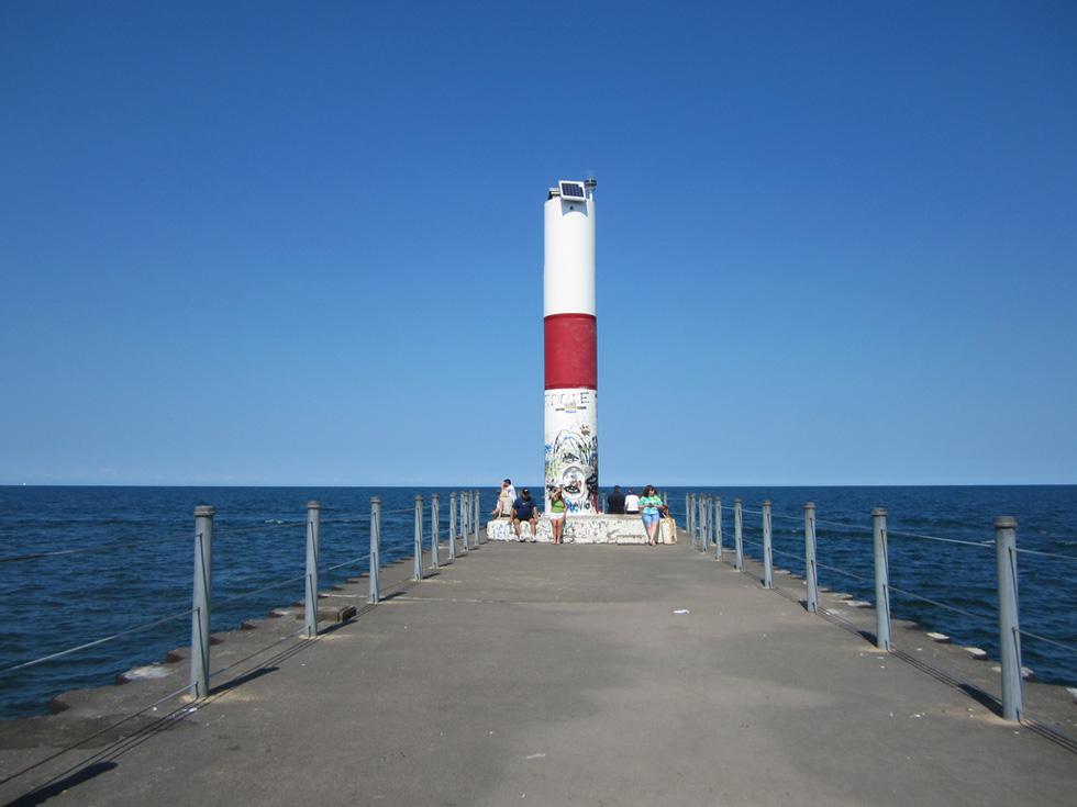 Ontario Beach pier. [PHOTO: Ryan Green]